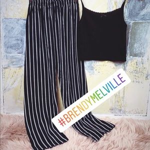 Brandy Melville set: striped pants & tank top